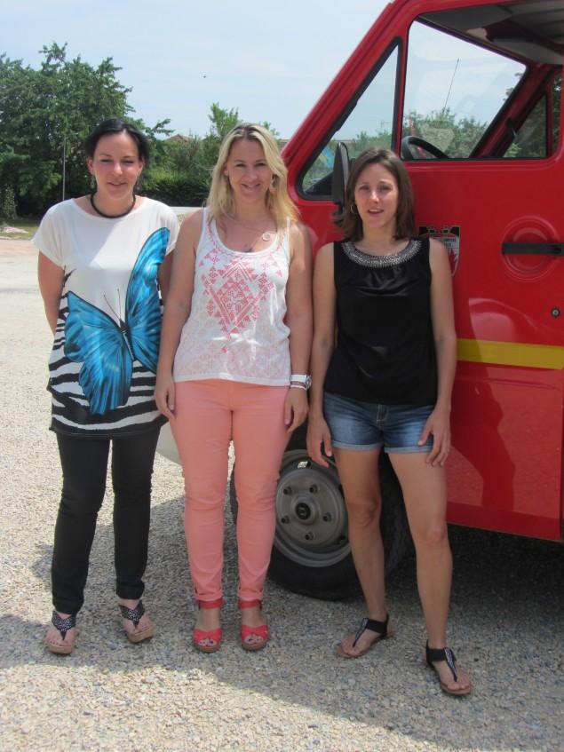 Les pompiers au féminin: Noémie, Adeline et Géraldine