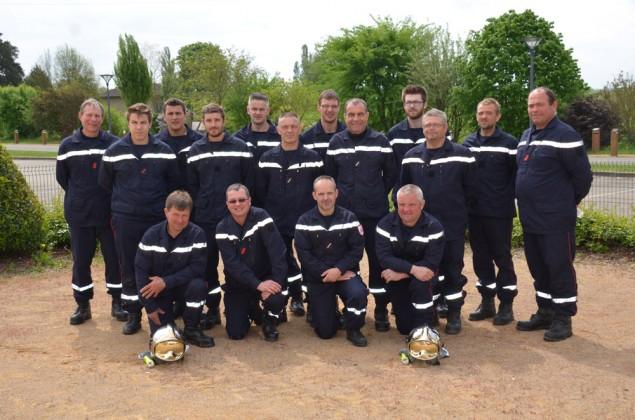 Une partie des pompiers en activité