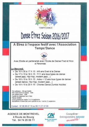 Danse Saison 2016-2017