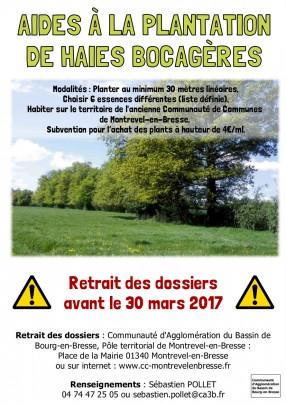 Aide à la plantation de haies bocagères