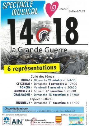 14-18 La Grande Guerre - Spectacle musical