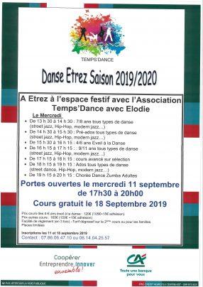 Danse Etrez Saison 2019-2020