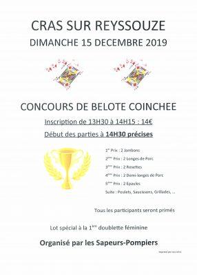 Concours de belote coinchée des sapeurs-pompiers de Cras-sur-Reyssouze